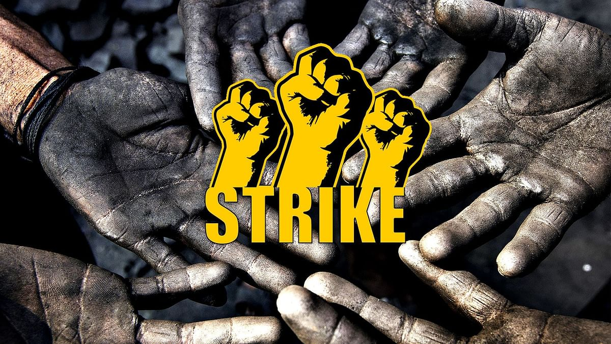 RINL Vizag Steel Plant Workers on Strike Today