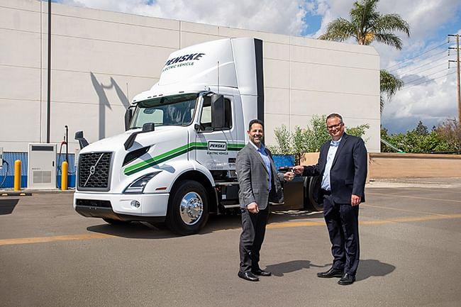 Volvo VNR Electric Trucks for Penske Truck Leasing