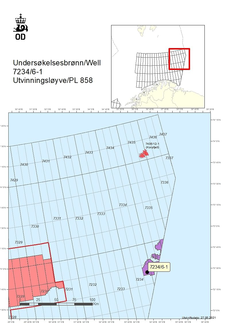 NPD Grants Permit for to Aker BP for Wells 7234/6-1 & 7234/6-1 A