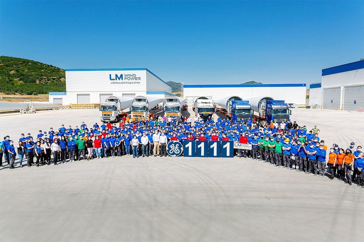 GE's Bergama Wind Turbine Blade Unit Produces 1111th Blade