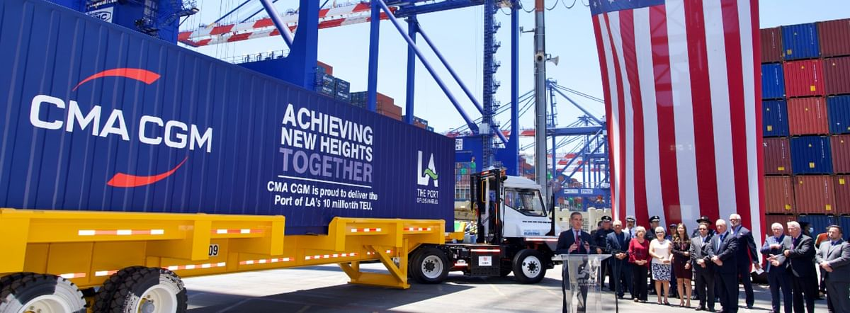 CMA CGM Group Ships Port of Los Angeles' 10 Millionth TEU