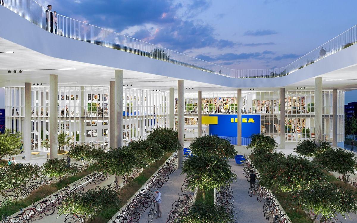 New IKEA City Store to Creates Green Lounge in Copenhagen
