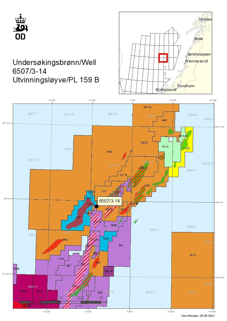 NPD Grants Permit to Equinor for Well 6507/3-14