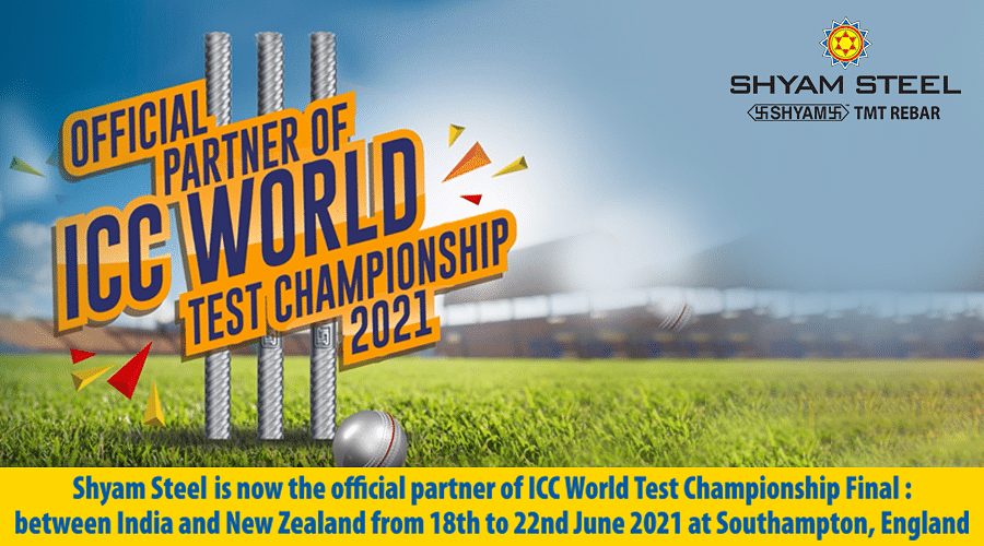 Shyam Steel is Partner for ICC Test World Championship 2021