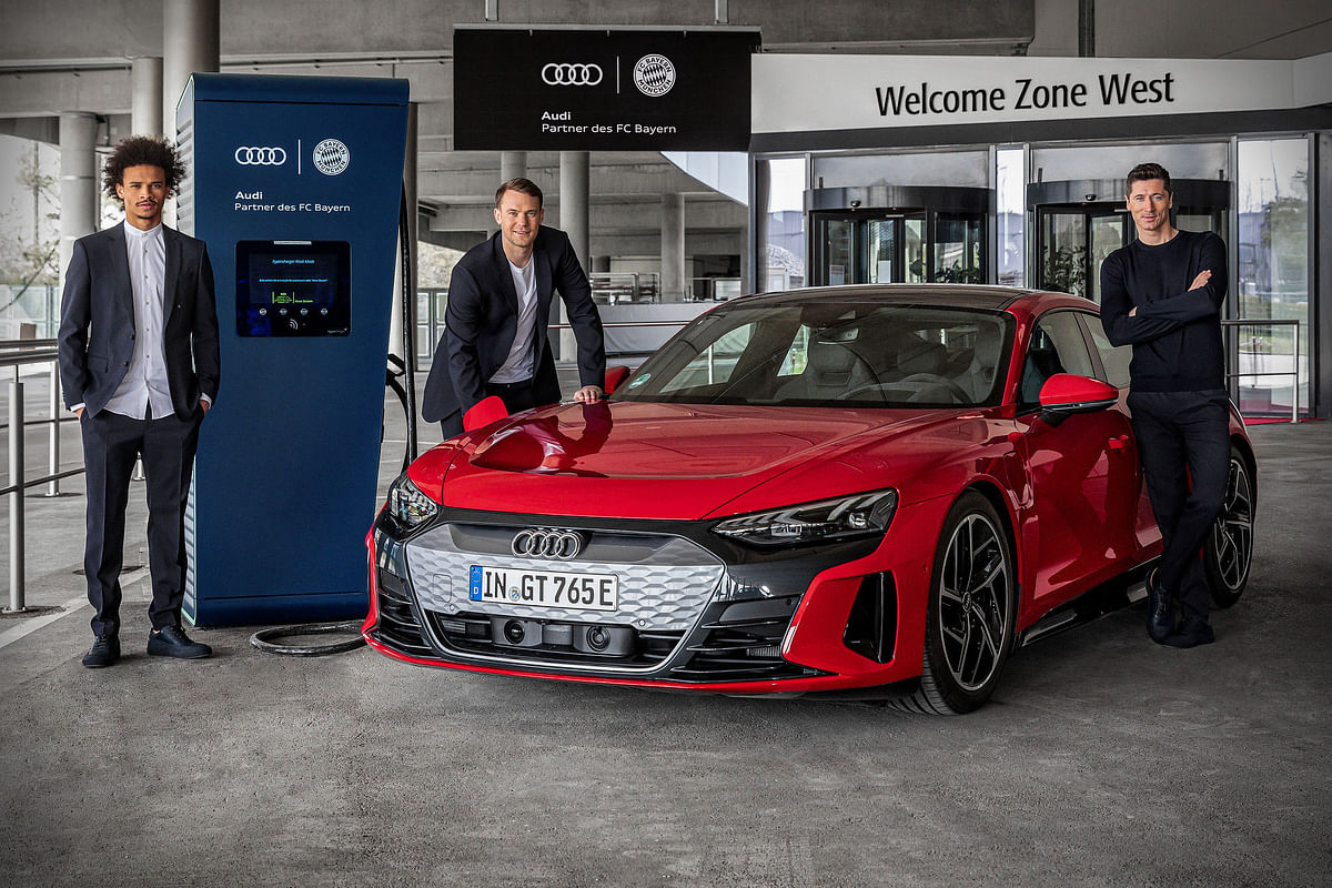 Audi Installs Charging Stations for FC Bayern