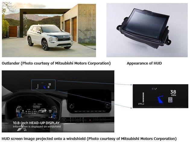 Panasonic WS HUD Screen in Mitsubishi Outlander