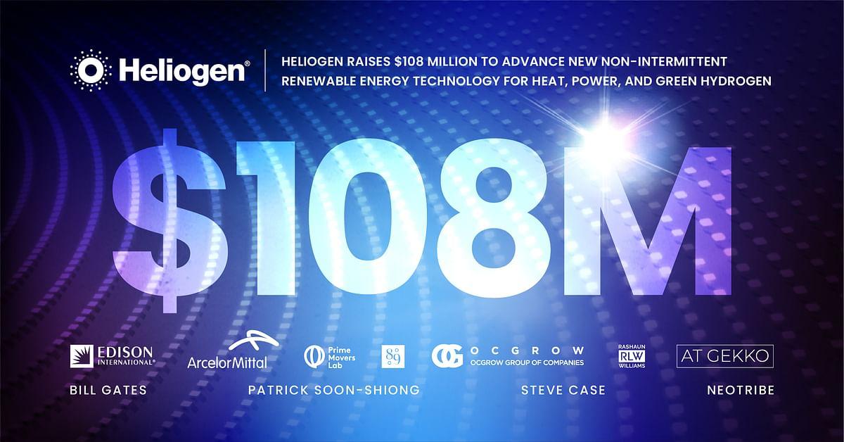 Heliogen Raises Funds for Heat, Power & Green Hydrogen Technology