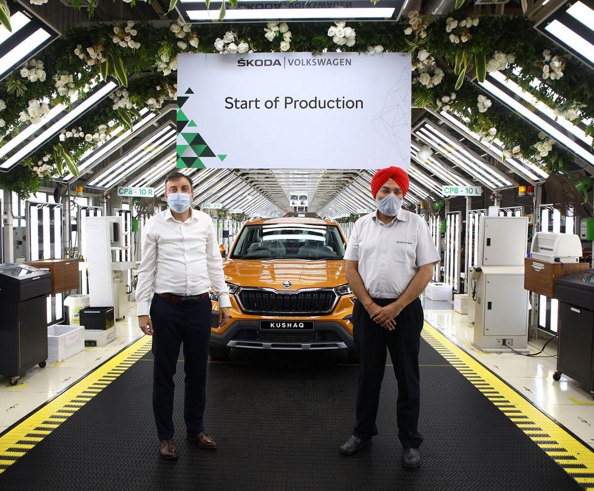 ŠKODA StartsProduction of KUSHAQ SUV at Pune