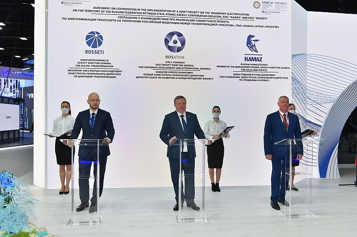 ROSATOM, KAMAZ & Rosseti to Develop Electric Transport in Russia
