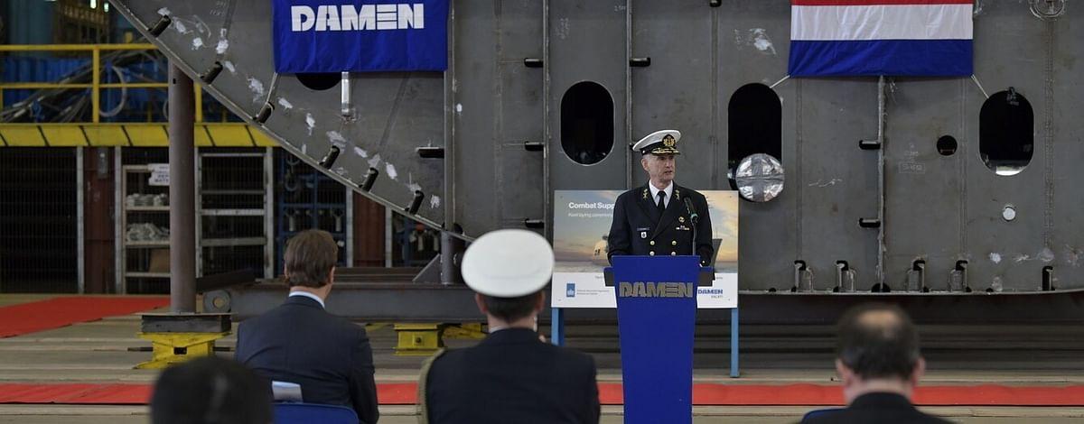 Damen Galati Lays Keel of Combat Support Ship Den Helder