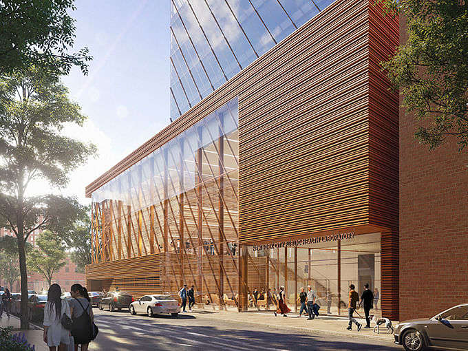 SOM Unveils Design for New Public Health Laboratory in Harlem