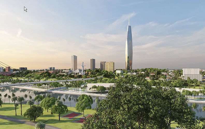 Construction of Africa's Tallest Tower in Abidjan in Ivory Coast