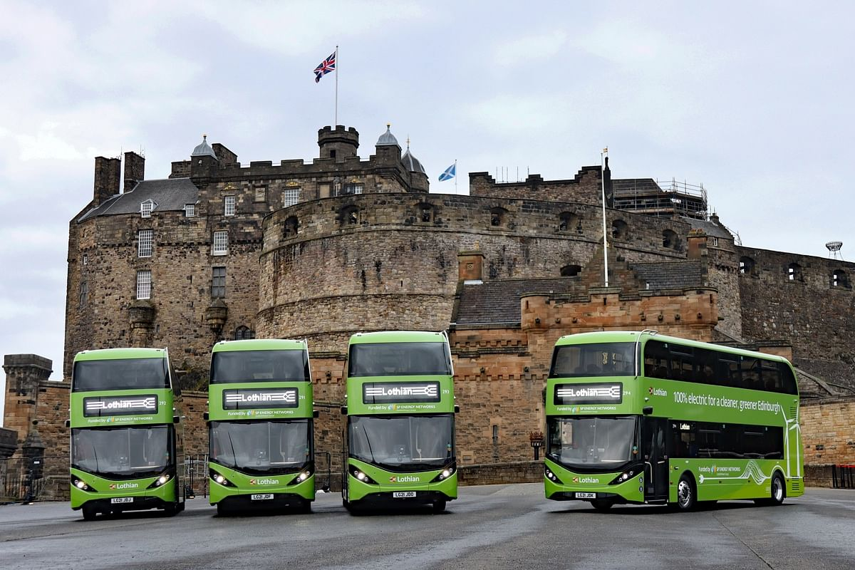 BYD ADL Enviro400EV Double Deck Buses for Lothian Buses