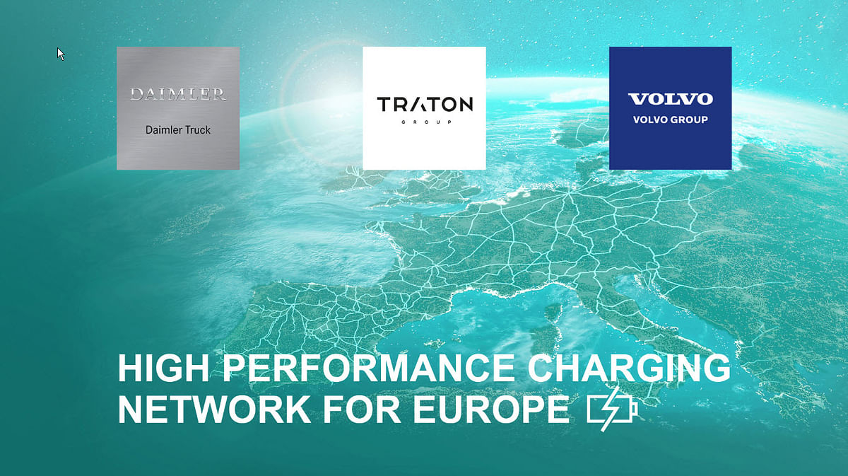 Daimler Truck, TRATON & Volvo Plan to Truck Charging Network