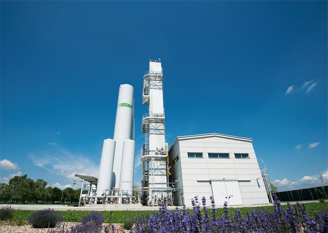 SIAD Macchine Impianti ASU for Albametal Steel Mill in Albania