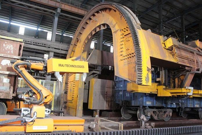 Tata Steel Using Robotic in Wagon Tippler at Kalinganagar