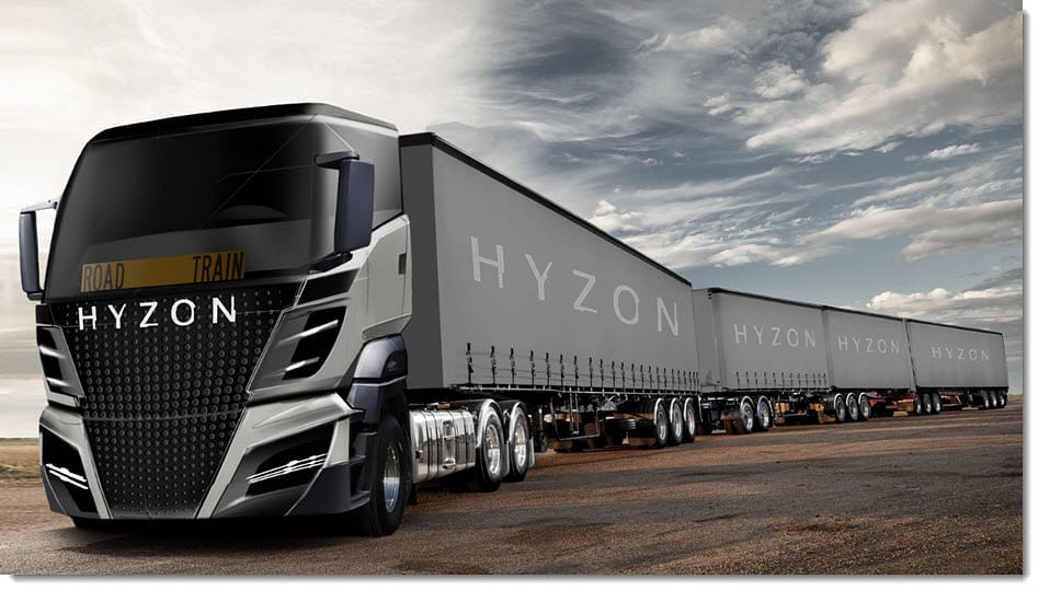 Hyzon Plans 154 Tonne Hydrogen Fuel Cell Powered Truck