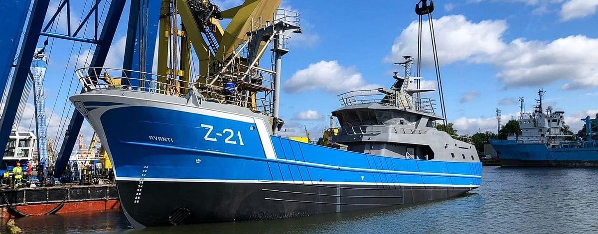 Damen Maaskant Outfitting Rederij Devan's New Beam Trawler