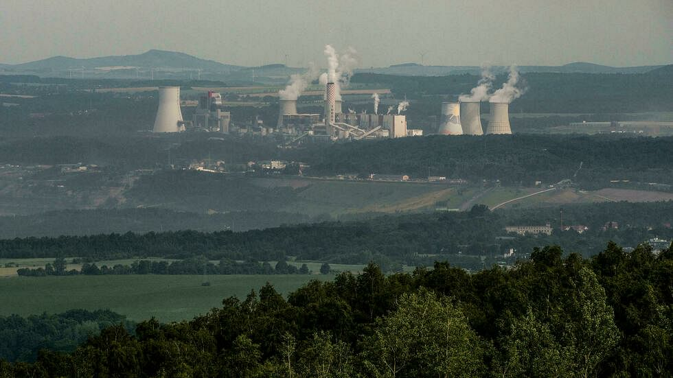Czech Villagers Protest Against Turow Lignite Mine in Poland