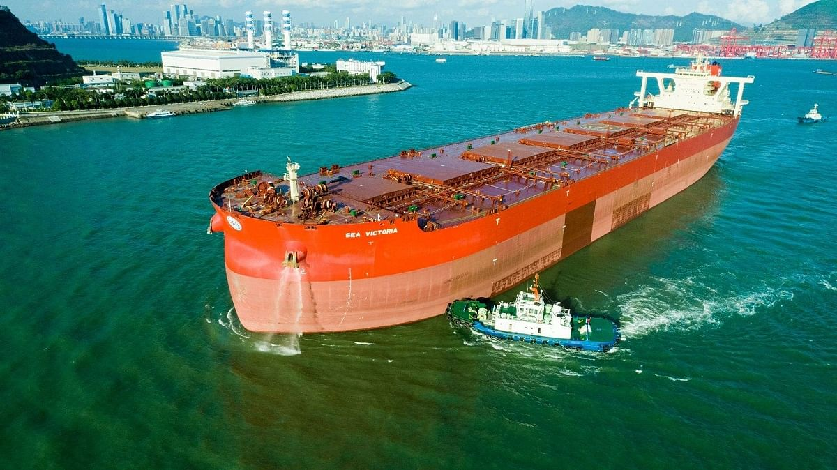 Vale Ore Carrier Reduces Emissions with Air Bubbles in Hull