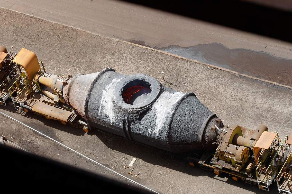 Torpedo Ladle Leak Causes Fire at Rail Track in SAIL BSL BF