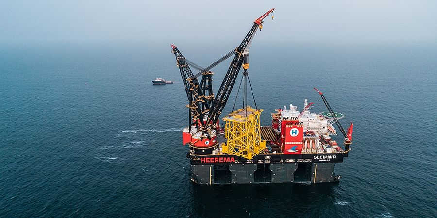 Second Transformer Jacket Installed at HKZ Offshore Wind Project
