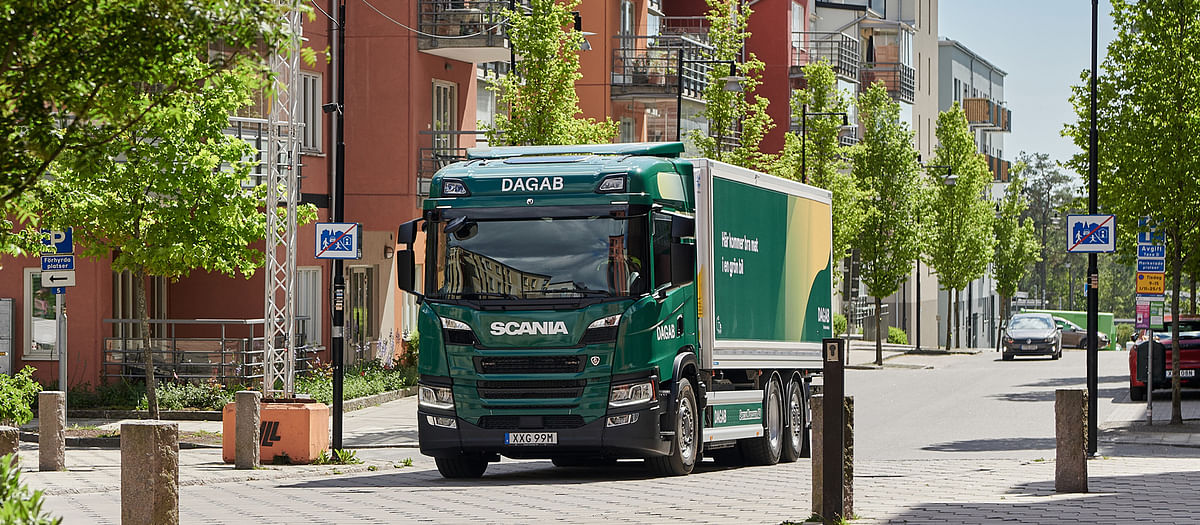 Axfood's Dagab Using Scania Electric Truck in Sweden