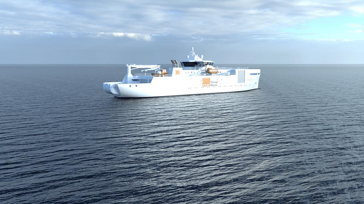 ABB Azipod Propulsion for Orange Marine Cable Ship