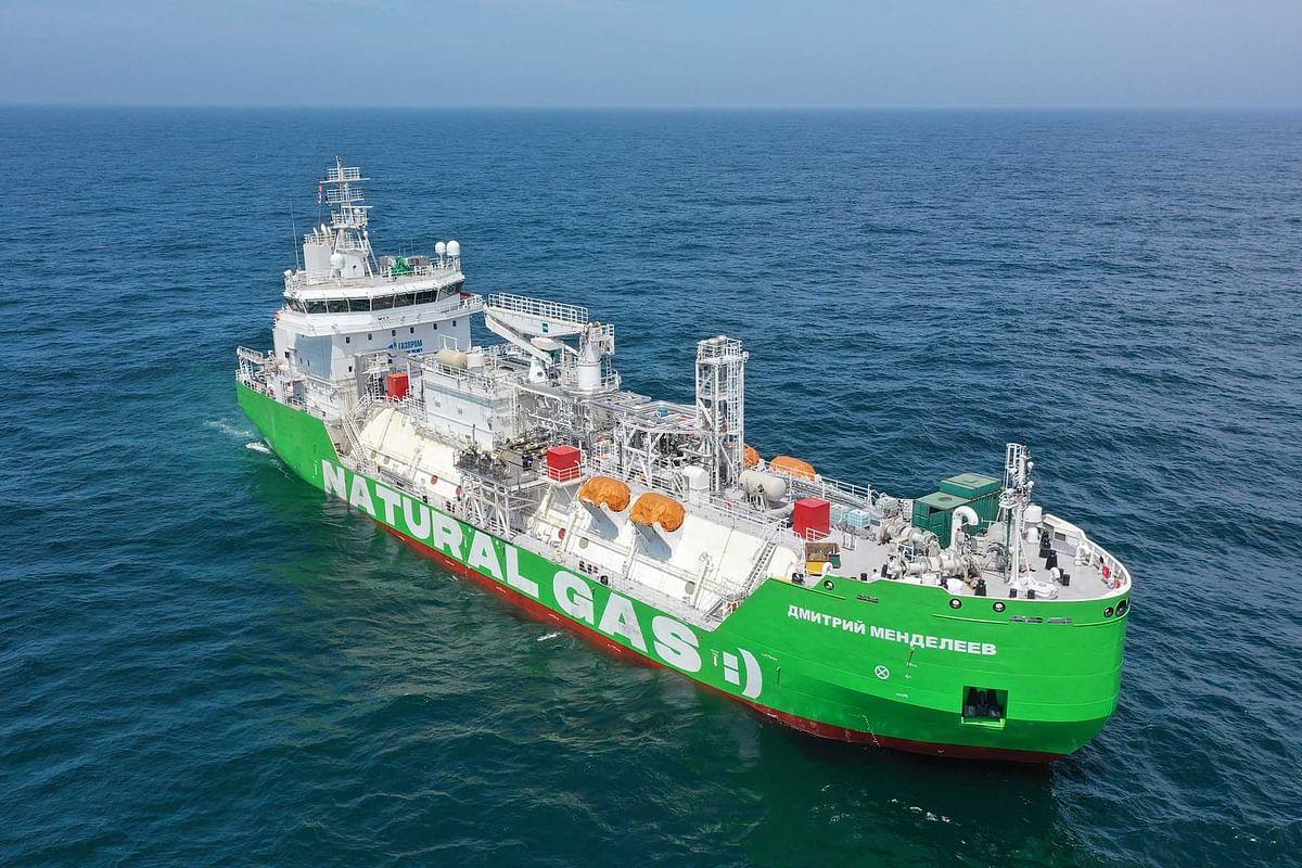 Gazprom Neft Completes Building LNG Bunkering Vessel