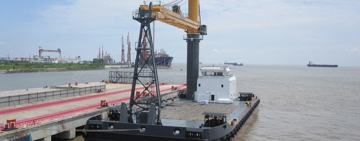 Transhipment Services Orders Damen Transshipment Crane Barge