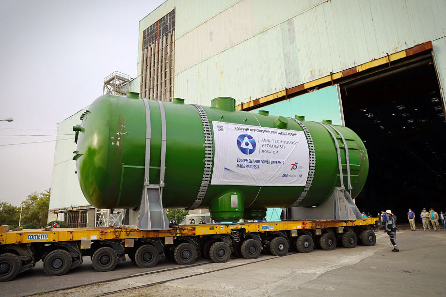 Reactor Vessel & 4 Steam Generators for Rooppur NPP2 Delivered
