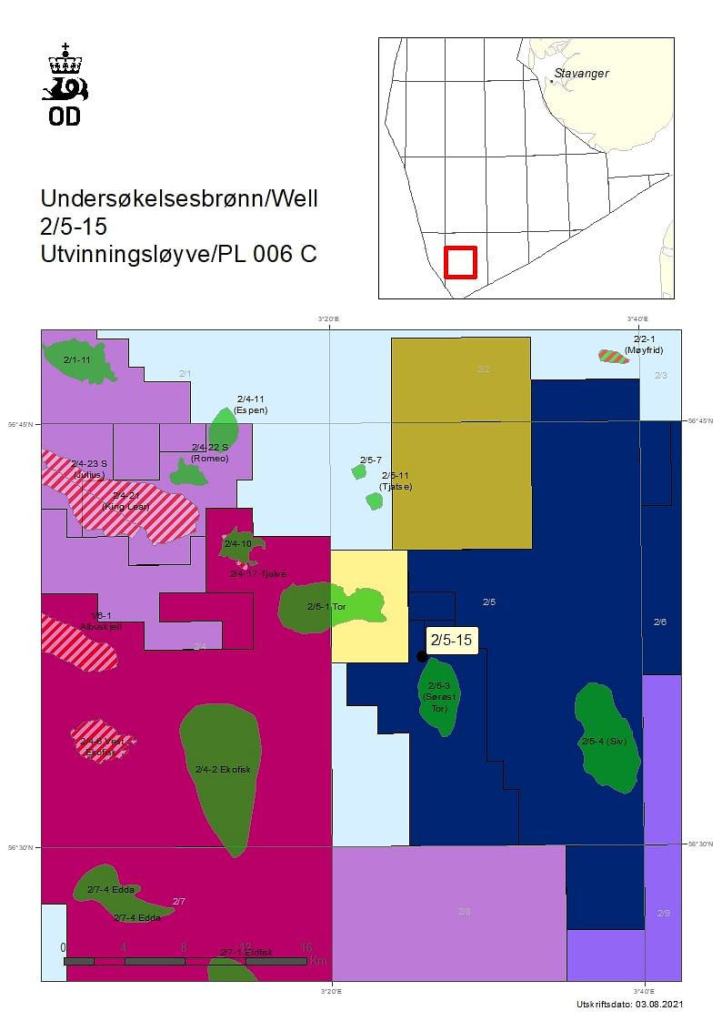 NPD Grants Drilling Permit to DNO Norge for Well 2/5-15
