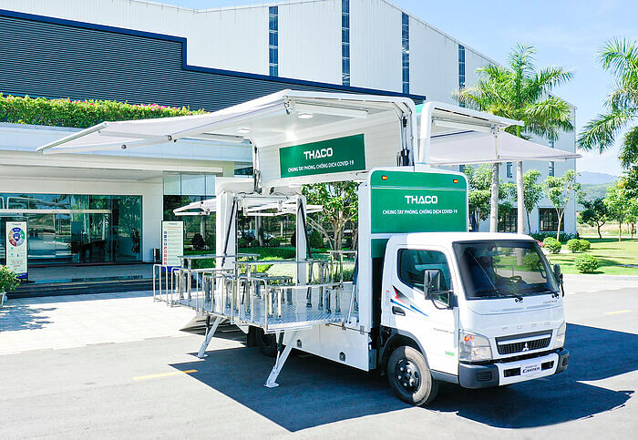 126 Fuso Canters for Covid-19 Vaccination Drive in Vietnam