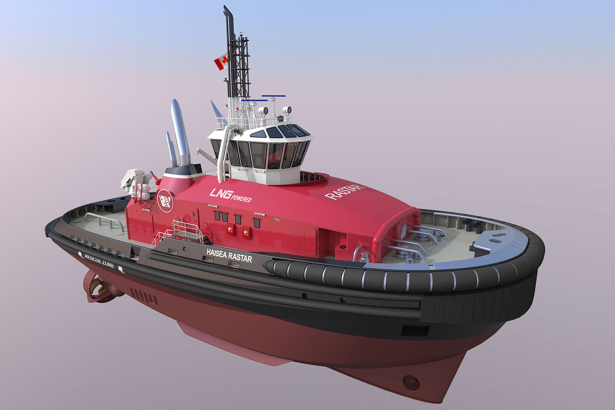 5 Low-Emission Tugs for HaiSea Marine Propelled by SCHOTTEL
