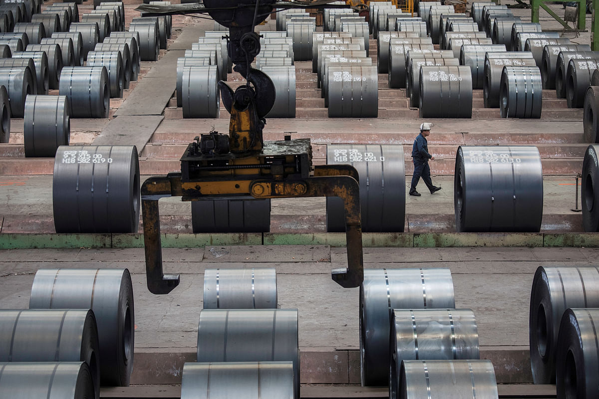 China's Crude Steel Output in July Falls Severely on Crackdown