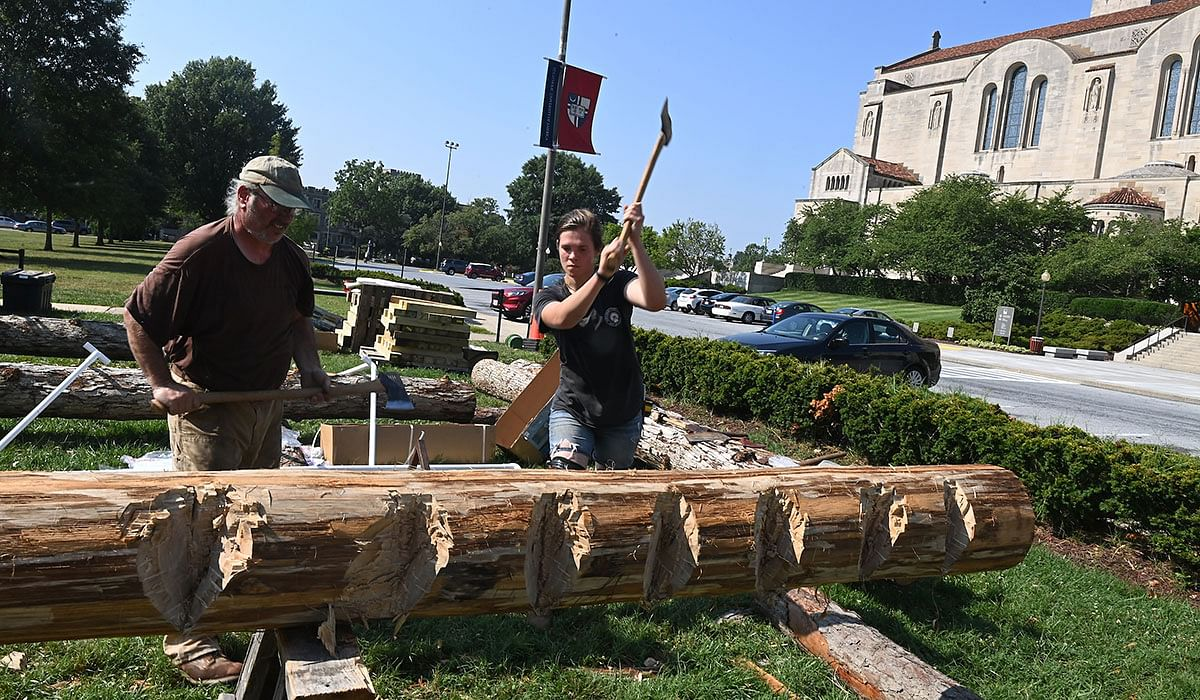 Truss Project Brings Medieval Architecture to Campus