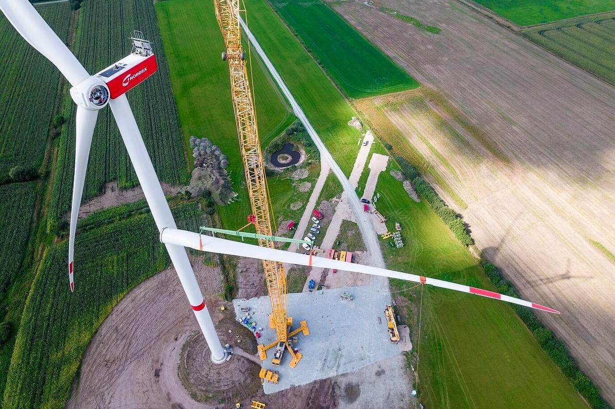 Nordex Installs First N163/5.X Turbine at Janneby in German