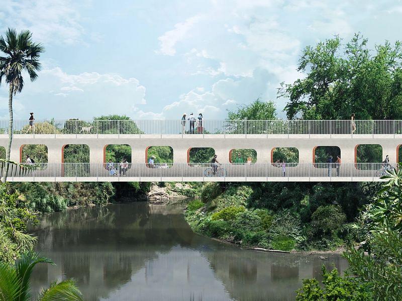 OMA & Shohei Shigematsu Reveal Design of Jojutla Bridge in Mexico
