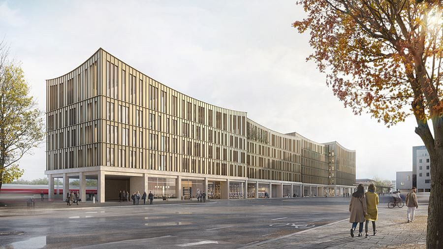 Henning & Larsen Designs Ladehof Building in Augsburg