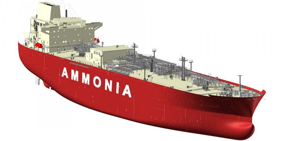 HHI & KSOE Receive AiP for Ammonia Carrier with Ammonia Fuel
