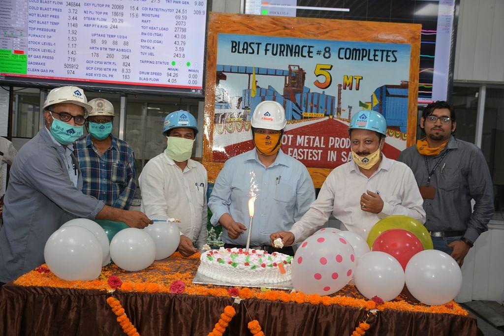 SAIL BSP BF 8 Mahamaya Crosses 8 Million Tonne Milestone