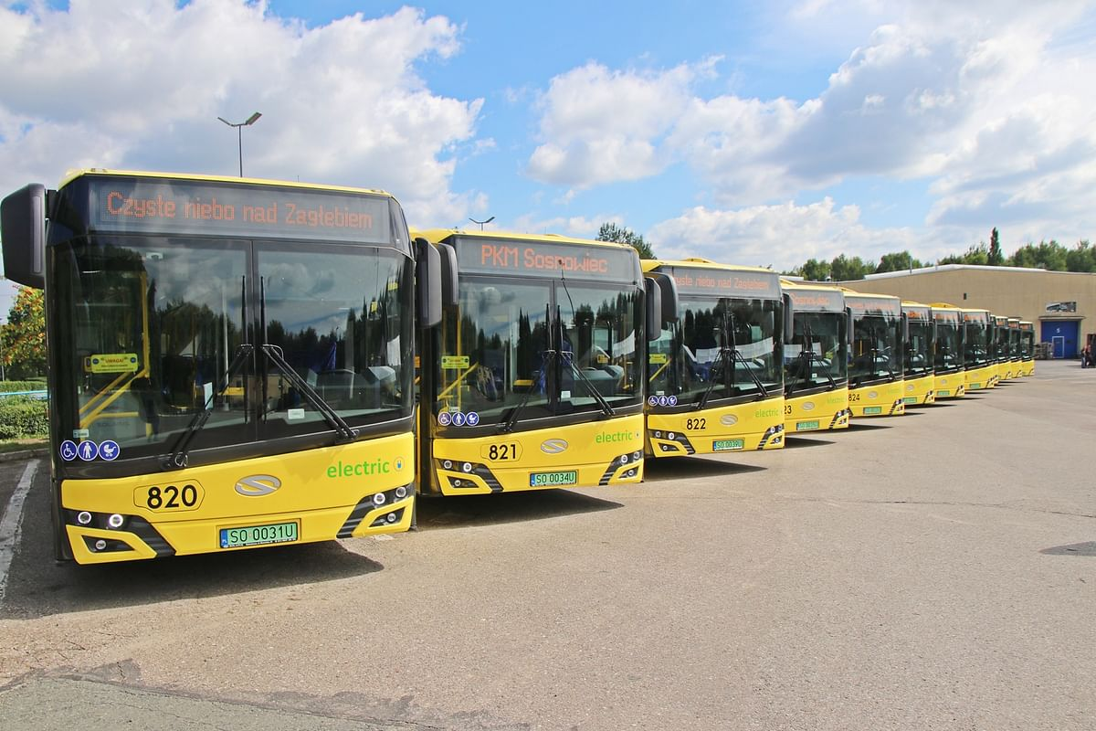 14 Electric Solaris Buses Arrive in Sosnowiec in Poland