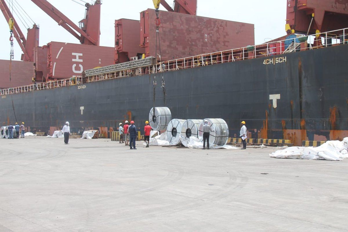 JSW Steels Starts Steel Exports from New Mangalore Port