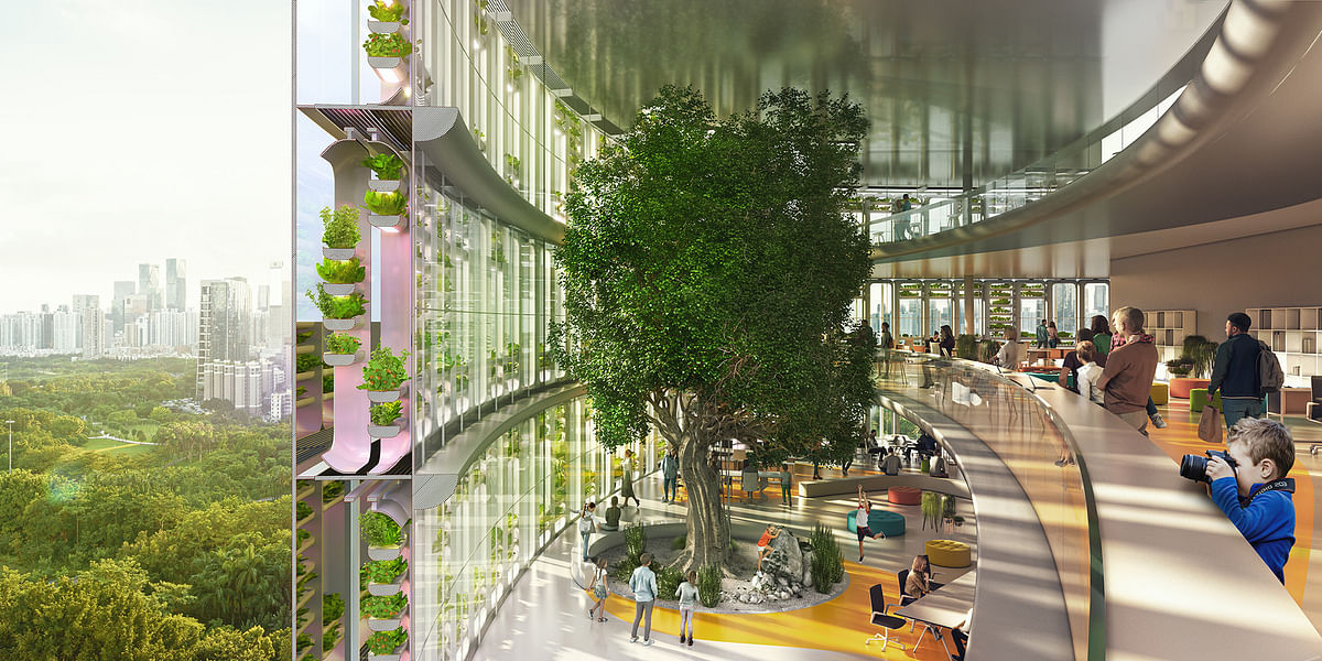 Carlo Ratti Associati Design Farmscraper Jian Mu Tower in Shenzhen