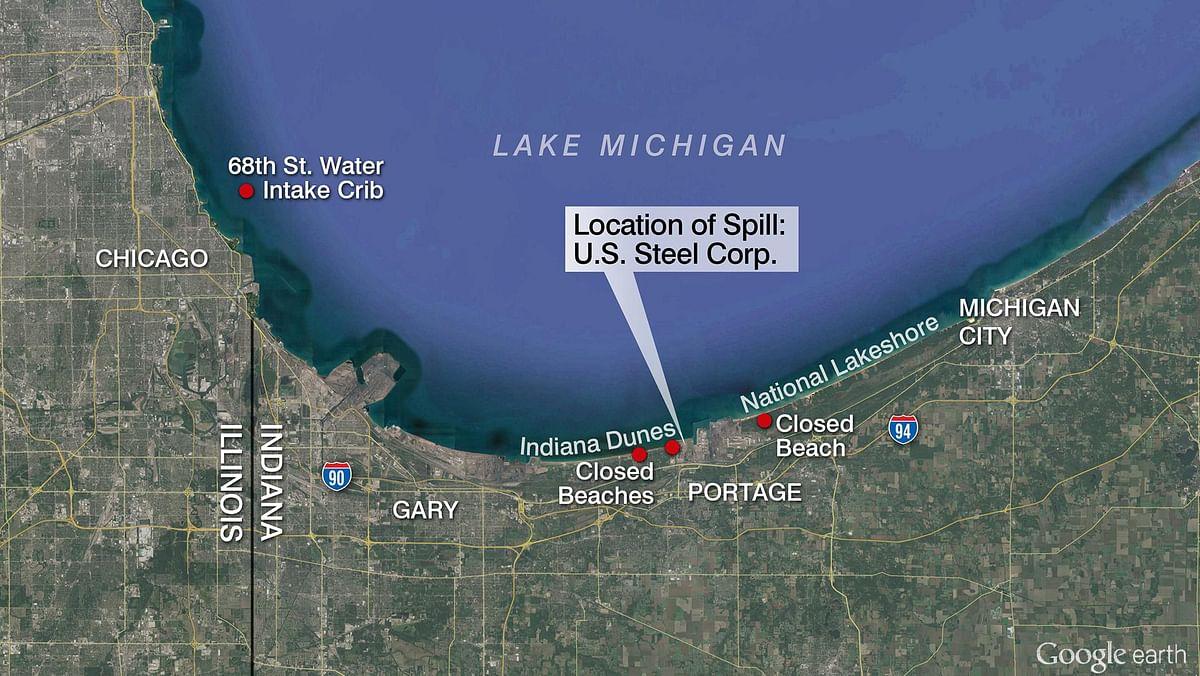 US Steel Portage Plant Pollutes Lake Michigan Tributary