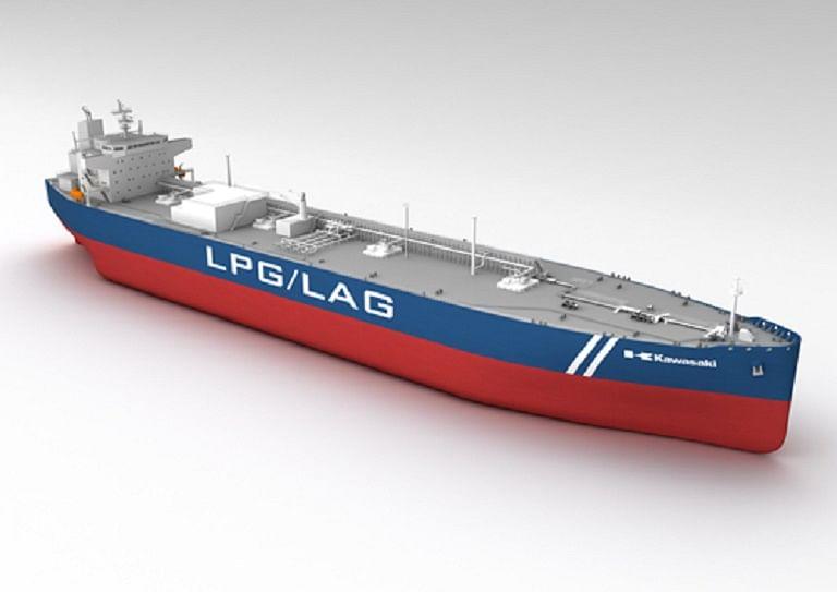 Kawasaki Receives Order for LPG-fueled LPG/LAG Carrier