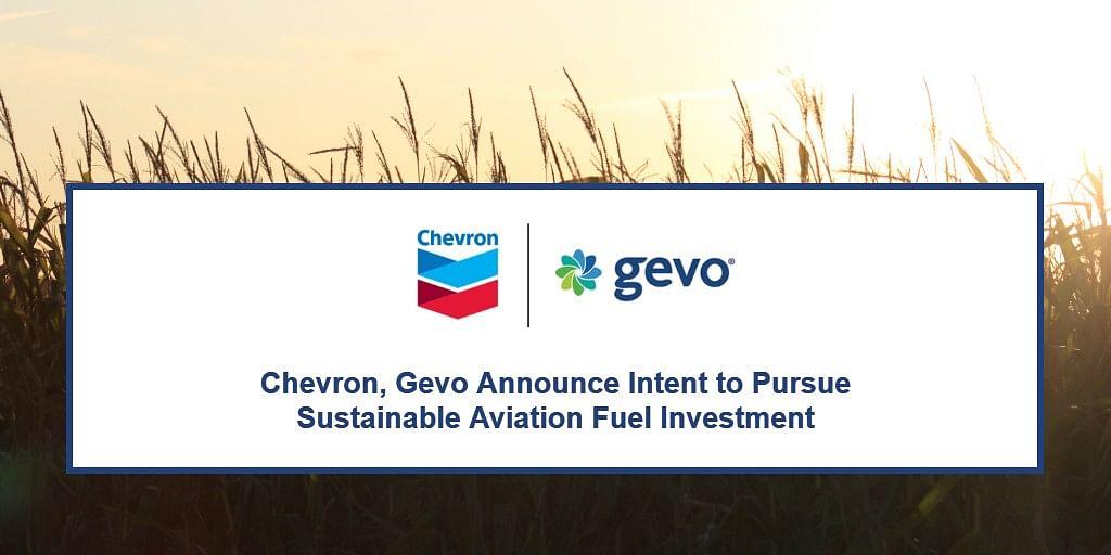 Chevron & Gevo to Pursue Sustainable Aviation Fuel Investment
