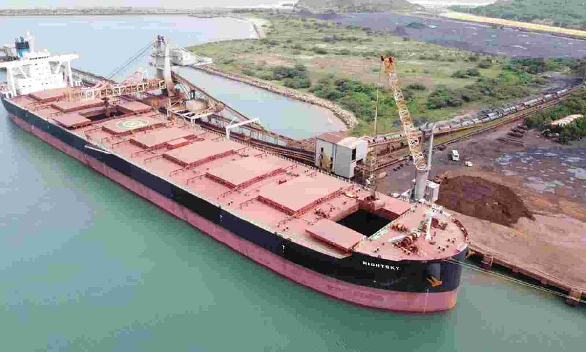 Gangavaram Port Transfers 600KT Coal to RINL by Conveyors