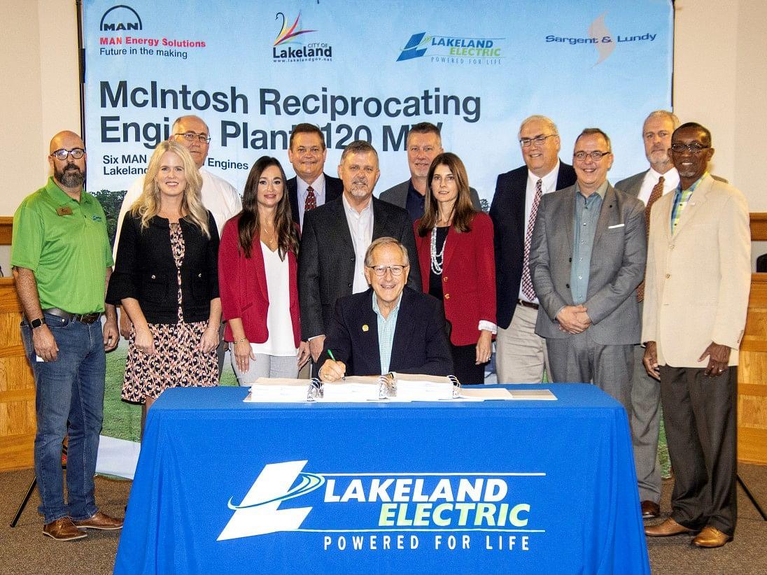 MAN Bags 120MW Order for Lakeland's McIntosh Power Plant