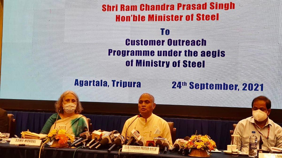 Steel Minister Announces Plans for Steel Stockyard in Tripura SEZ